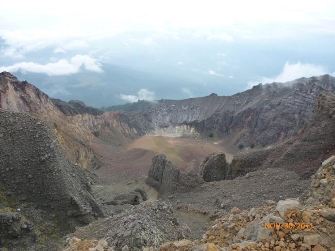 Kawah gunung Rinjani