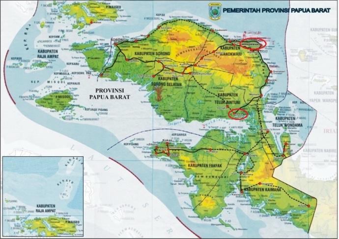 Peta Papua Barat via http://manokwari.bpk.go.id/