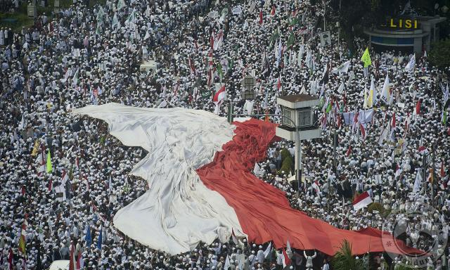 Bendera Merah Putih di Aksi 411